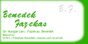 benedek fazekas business card